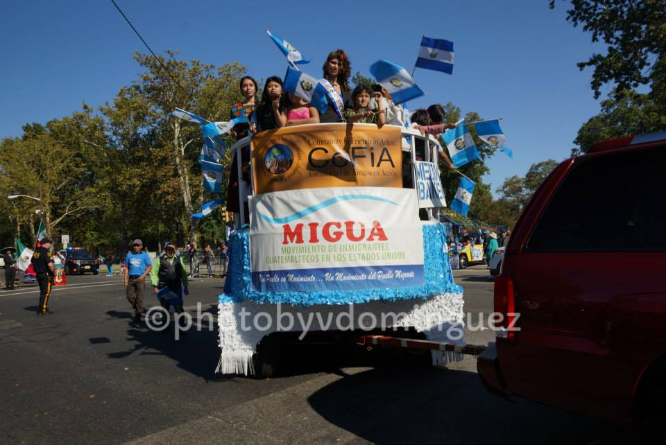 Guatemalan Float with MIGUA and CoFiA banners