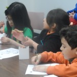 The children enjoy the stories and crafts