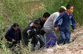 Child Migrants Crossing from Mexico