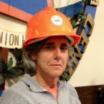 Board member Suzanne learned how to be safe on the job